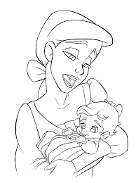 Pleasant Design Ideas The Little Mermaid 2 Coloring Pages Baby Ariel And Melody