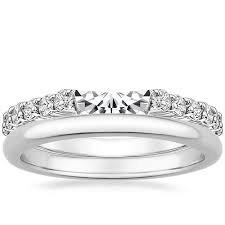 18K White Gold Lotus Flower Diamond Ring with Side Stones with 2mm