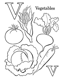 Vegetable Coloring Pages 142