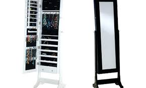Pier One Dressing Mirror by Armoire Mirrored Jewellery Armoire Espresso Rolling Jewelry