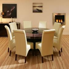 Round Glass Dining Room Tables For 8 Black Elegant