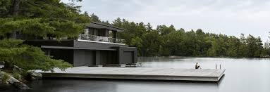100 Boathouse Architecture Charred Cedar Clads Ontario Lake Boathouse By Akb Architects