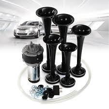 100 Air Horn Kits For Trucks 12V 125dB 5 Trumpets Hazzard Loud Musical Sound Kit Car