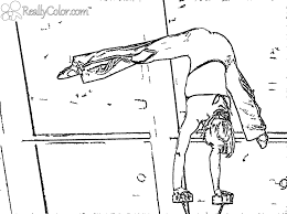 Gymnast Handstand Coloring Page Reallycolor