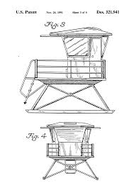 Beach Lifeguard Chair Plans by Patent Usd321941 Lifeguard Tower Google Patents