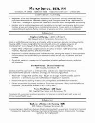 Nursing Resume Examples 2017 Best Of Summary Qualifications