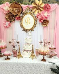 Pink White And Gold Birthday Decorations by Best 25 Paris Party Decorations Ideas On Pinterest Paris Theme