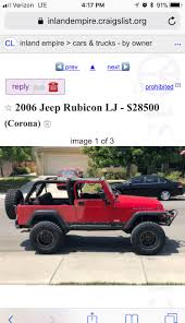 Official Craigslist Thread | Page 31 | Jeep Wrangler TJ Forum Craigslist Inland Empire Motorcycles Parts Newmotwallorg Fresno Cars Top Car Release 2019 20 A Datsun Truck With Skyline Tricks Speedhunters Wyoming Trucks Dodge Ie Best Image Kusaboshicom Ny Amp By Owner Atlanta And By 1920 New Specs Buy Volkswagen Vw Rabbit Pickup For Sale In North Carolina Los Angeles N Ownertrucks Only Mesa In