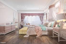 3d rendering schöne rosa vintage kid schlafzimmer stockfoto und mehr bilder architektur