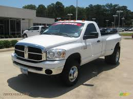 2009 Dodge Ram 3500 SLT Regular Cab 4x4 Dually In Bright White ...