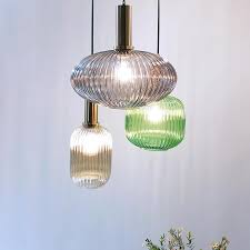 großhandel nordic restaurant pendelleuchten grau grün cognac glas moderne hängele schlafzimmer wohnzimmer küche pendelleuchte glistenlight