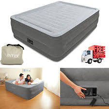Aerobed Queen Raised Bed With Headboard by Serta Air Bed Mattress Queen Camping Inflatable Comfort Aerobed