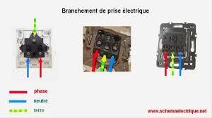 schema branchement cablage prise electrique de courant