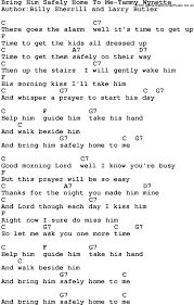 Country Music Bring Him Safely Home To Me Tammy Wynette Lyrics and