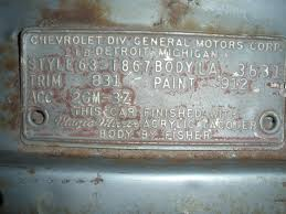 1963 Chevy Impala Cowl Tag Decoding - Chevy Message Forum ...