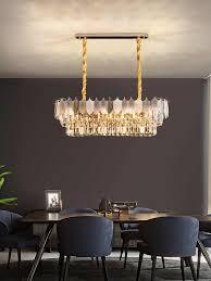 postmodernen einfache licht luxus kristall kronleuchter runde europäischen luxus blatt wohnzimmer schlafzimmer villa esszimmer le