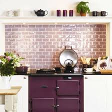 this purple and white country kitchen makes use of this