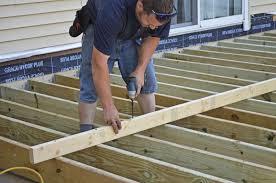 Floor Joist Spans For Decks by Leveling Joists Professional Deck Builder Framing Structure