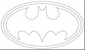 Astonishing Batman Logo Coloring Page With Color Pages And