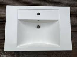 design badezimmer waschbecken unbenutzt germania 4854 weiß modern