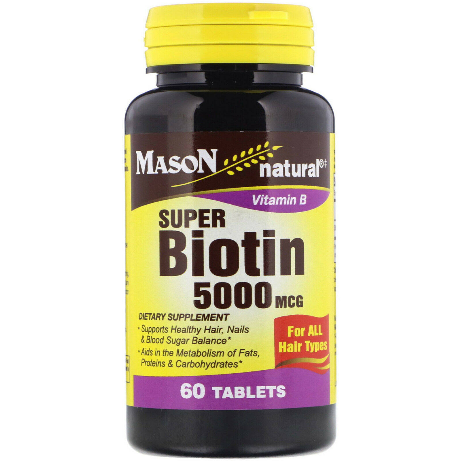 Mason Natural Vitamin B Super Biotin 5000mcg Tablets - x60