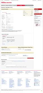 fice Depot s Checkout Step 4 Billing address Payment