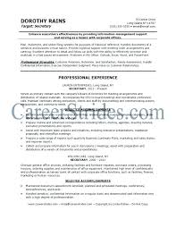 School Secretary Resume Objective