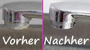 stark verkalkten wasserhahn richtig entkalken reinigen mit essig und