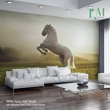 Wall Mural Decals Cheap by Fascinating Horse Racing Wall Decals Winter Horses Wall Mural