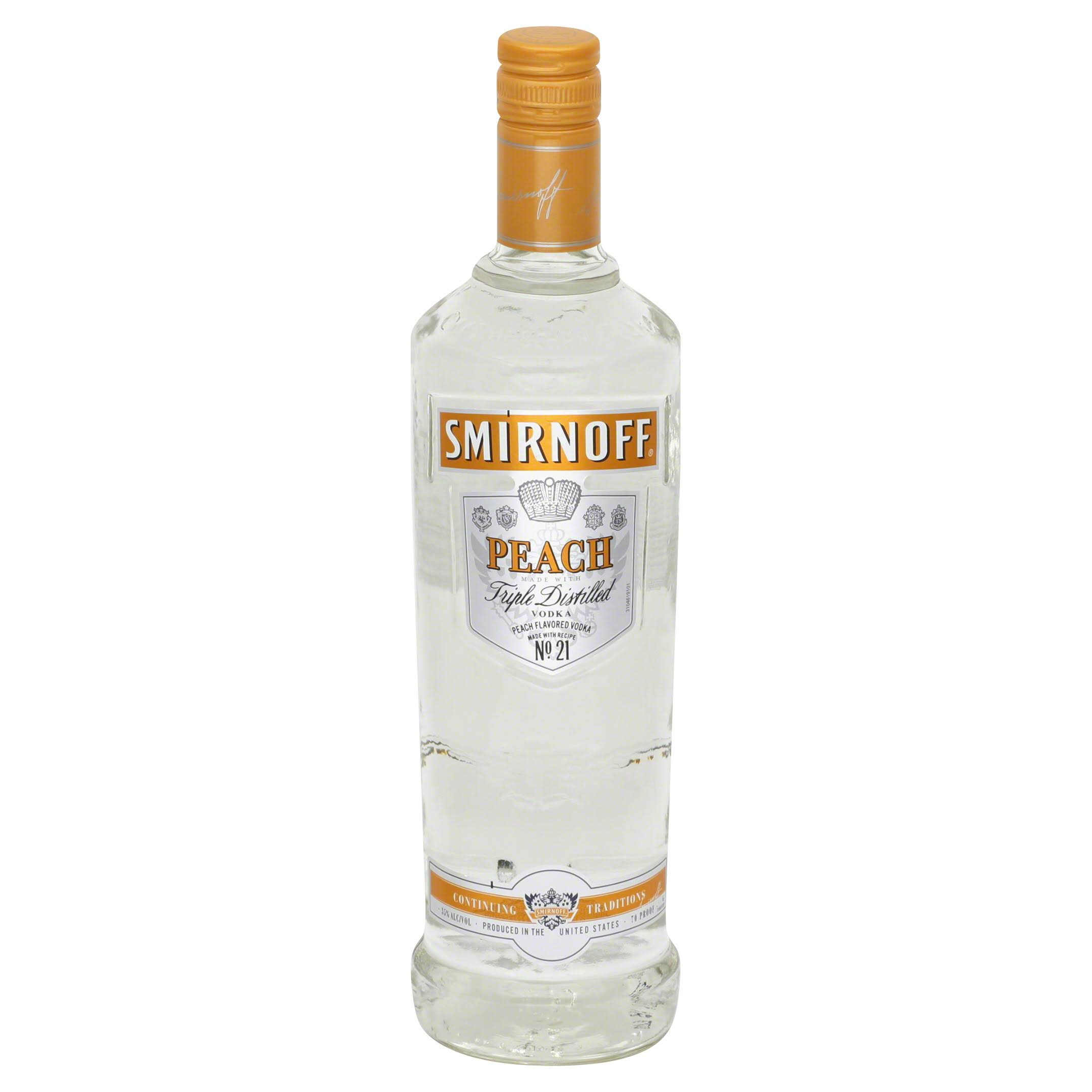 Smirnoff Vodka, Peach - 750 ml