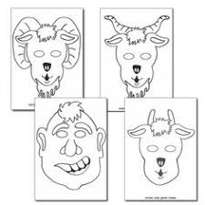 Billy Goat Gruff Role Play Masks Colouring Sheets
