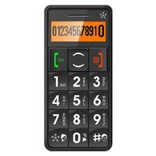 Easy to Use Unlocked Cell Phone with Big Buttons Amplified Sound Personal Emergency Response System Grey Extremely Easy to use cell phone with Big