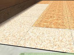 Preparing Osb Subfloor For Tile by How To Install An Insulated Barricade Modular Panel System In