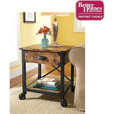 Better Homes And Gardens Rustic Country Side Table Antiqued Black Pine