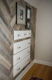 Herringbone Pallet Accent Wall