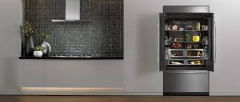 48 Cabinet Depth Refrigerator by The Obsidian Black Interior Refrigerator Jenn Air