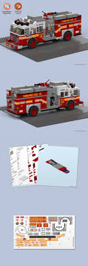 100 How To Build A Lego Fire Truck LEGO Instruction Manuals 183449 Custom Stickers Nd Instructions