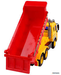 Amazon.com: Memtes Friction Powered Dump Truck Toy With Lights And ...