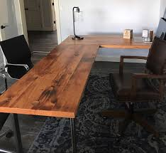 L Shaped Desk Reclaimed Wood And Steel