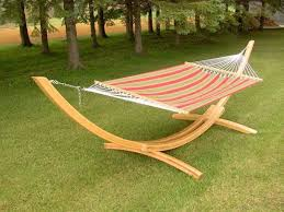 Image Of Wooden Hammock Chair Stand Pad