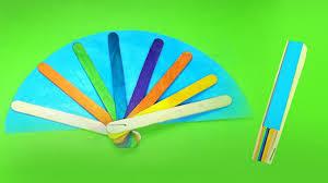 Easy DIY Hand Fans Using Popsicle Sticks