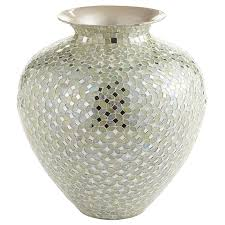 white silver mosaic vases pier 1 imports