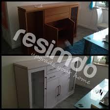 badezimmer renovieren rot möbel folie upcycling