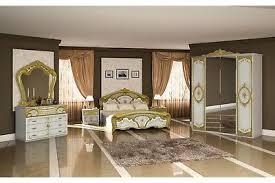 italienisches barock schlafzimmer rouza in weiß gold 6
