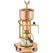 Elektra Semiautomatica Microcasa Espresso Cappuccino Machine Copper Brass