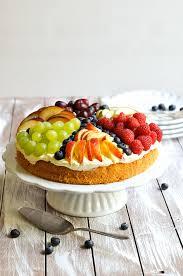sommer torte mit früchten und quark creme mix dich