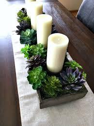 Spring Succulent Garden Idea Dining Room CenterpieceTable