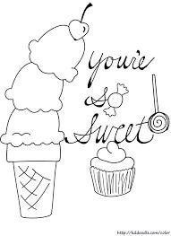 Pin Drawn Waffle Cone Coloring Book 4