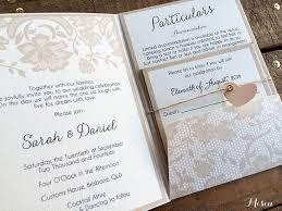 Lace Wedding Invitations Australia Pocket Fold Misiu Papier Madeitau