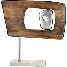 gilde dekoobjekt skulptur marcire rechteckig höhe 48 cm aus holz und metall wohnzimmer